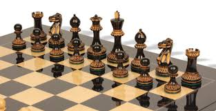 Cool Chess Boards by Parker Staunton Chess Set In Burnt Boxwood With Black Ash Burl