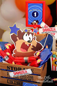 kara u0027s party ideas looney tunes tazmanian devil themed birthday party
