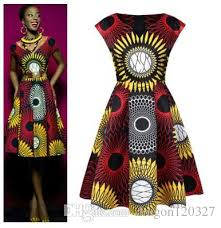 ankara dresses africa bazin riche wax print dresses women summer big swing