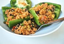 cheesy quinoa stuffed peppers life is but a dish
