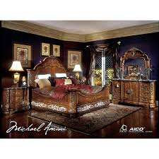 Amini Furniture Aico Excelsior 4pc Queen Size Mansion Bedroom Set For 6 634 00 In