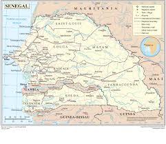 Dakar Senegal Map Senegal Map Blank Political Senegal Map With Cities
