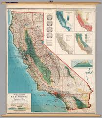Map Ca California Physical Political David Rumsey Historical Map