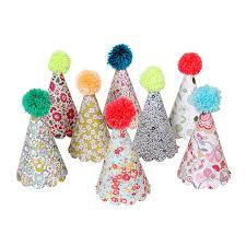party hats liberty party hats with pom poms 8 meri meri birthday party