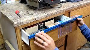 kreg cabinet hardware jig rockler deluxe drawer pull jig it demo glass impressions youtube