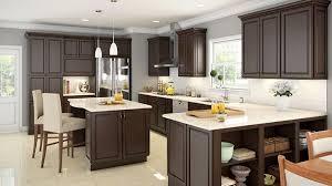 furniture cottage modern kitchen with l shaped espresso wood
