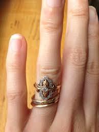 real engagement rings unique diamond cuts weddingbee