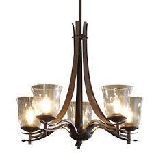 5 Light Bronze Chandelier Allen Roth 5 Light Olde Bronze Chandelier W Clear Glass