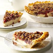 cranberry dishes for thanksgiving cranberry cheese crumb pie recipe taste of home