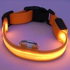 light up collar amazon led pet dog collar usb rechargeable night safety flashing collar