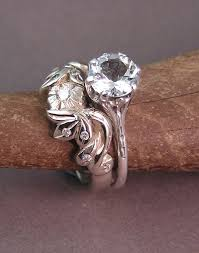 custom wedding band to fit engagement ring fall in with this challenging design for a wedding ring