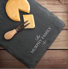 engraved cheese board personalized engraved slate cheese board