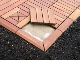 restore your concrete patio with an overlay of modular outdoor
