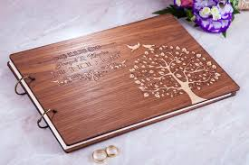 personalized wedding albums wedding guest book personalized wedding guestbook rustic guest