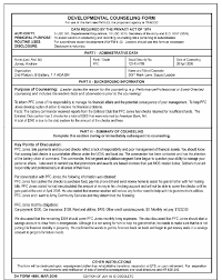Da Form 4856 Initial Counseling Fillable Da Form 4856 Financial Counseling Exle