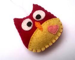 handmade felt owl ornaments grab a coffee