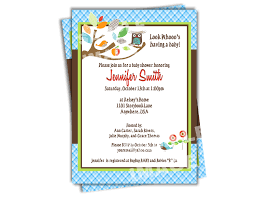 Mod Baby Shower by Owl Baby Shower Invitation Skiphop Treetop Friends Baby