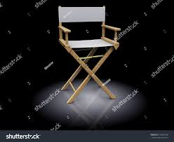 The Directors Chair On The Set 3d Illustration Director Chair White Color Stock Illustration