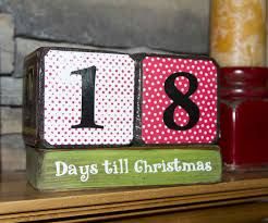 cute wooden christmas countdown blocks 5 steps with pictures