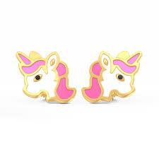 unicorn earrings the magic unicorn earrings for kids bluestone