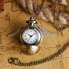 quartz necklace watch images Elegant golden snitch quartz fob pocket watch with sweater jpg