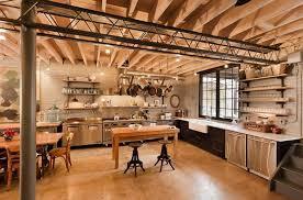 cuisines style industriel grande cuisine en style industriel bois design ideeco
