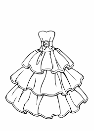 dress coloring pages newcoloring123