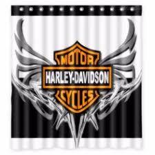 Harley Shower Curtain New Custom Bathroom Decor Shower Curtain Harley Davidson Garage