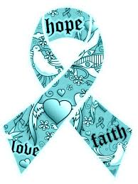 teal ribbon faith teal teal and white toptobottom wearteal