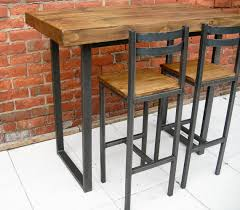 Kitchen Island Tables With Stools Breakfast Bar Table U0026 Two Bar Stools Rustic By Redcottagefurniture