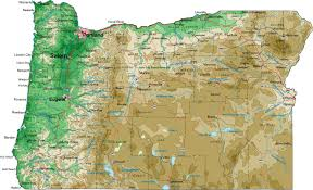 map of oregon mountains map