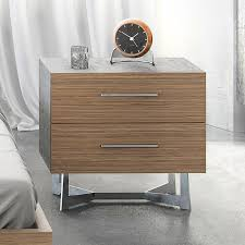 Modern Digs Furniture by Concrete Nightstand Walnut Nightstand Modern Digs