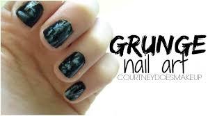 grunge nail art tutorial youtube