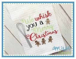christmas applique applique corner applique design we whisk you a merry christmas