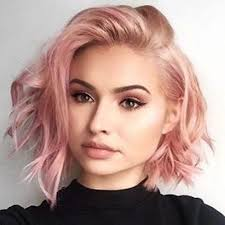 colorful short hair styles short messy rose gold hair color karigan hair styles pinterest