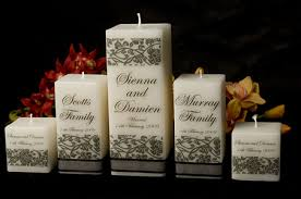 candles wedding personalised gifts square