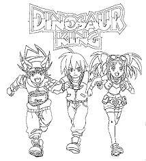 coloring pages dinosaur king drawing