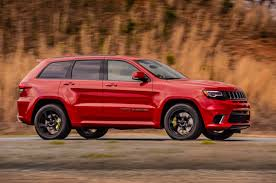 yellow jeep grand cherokee jeep officially debuts 2018 grand cherokee trackhawk