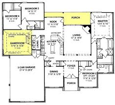 3 home plans 655799 1 traditional 4 bedroom 3 bath plan with 3 car