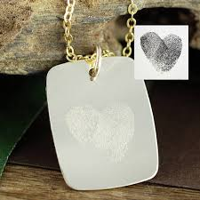 wedding gift necklace thumbprint necklace thumbprint jewelry fingerprint necklace