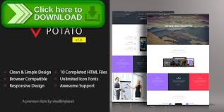 free nulled potato html5 responsive template download