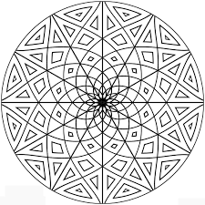 stylist design geometric coloring pages for adults free printable