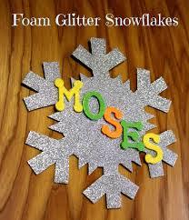 lille punkin u0027 easy personalized glitter foam snowflake craft