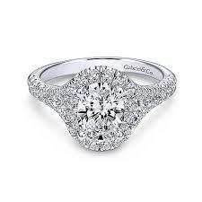 halo wedding rings images Kennedy 14k white gold oval halo engagement ring er10291w44jj jpg