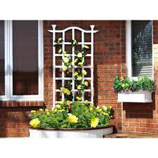 Arbors And Trellises New England Arbors 79 In London Vinyl Trellis Va68201 The Home