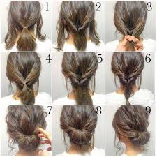 step to step hairstyles for medium hairs top 10 messy updo tutorials for different hair lengths easy hair