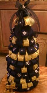 wvu mountaineers ribbon topiary style ornament great for the