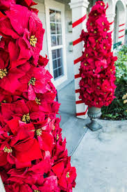 make these entryway poinsettia trees from kennethwingard tune