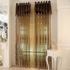 European Lace Curtains Embroidered Sheer Curtains Are Great Choice For European Bedroom