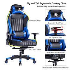 Big And Tall Office Chairs Amazon Amazon Com Killabee Big And Tall 440lb Gaming Chair Adjustable